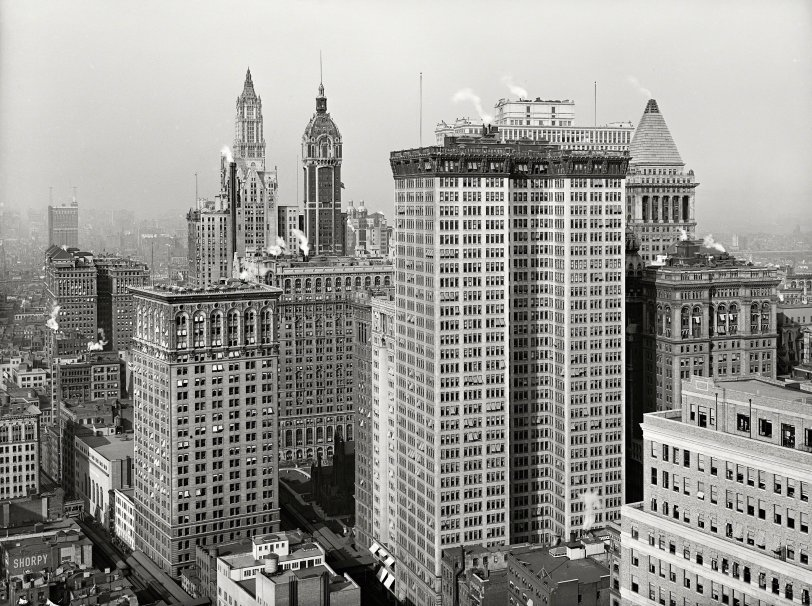 Upper Lower Manhattan: 1917