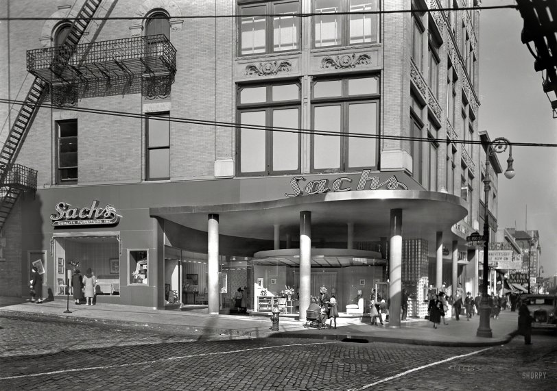 Sachs Third Avenue 1940 Shorpy Historical Photos
