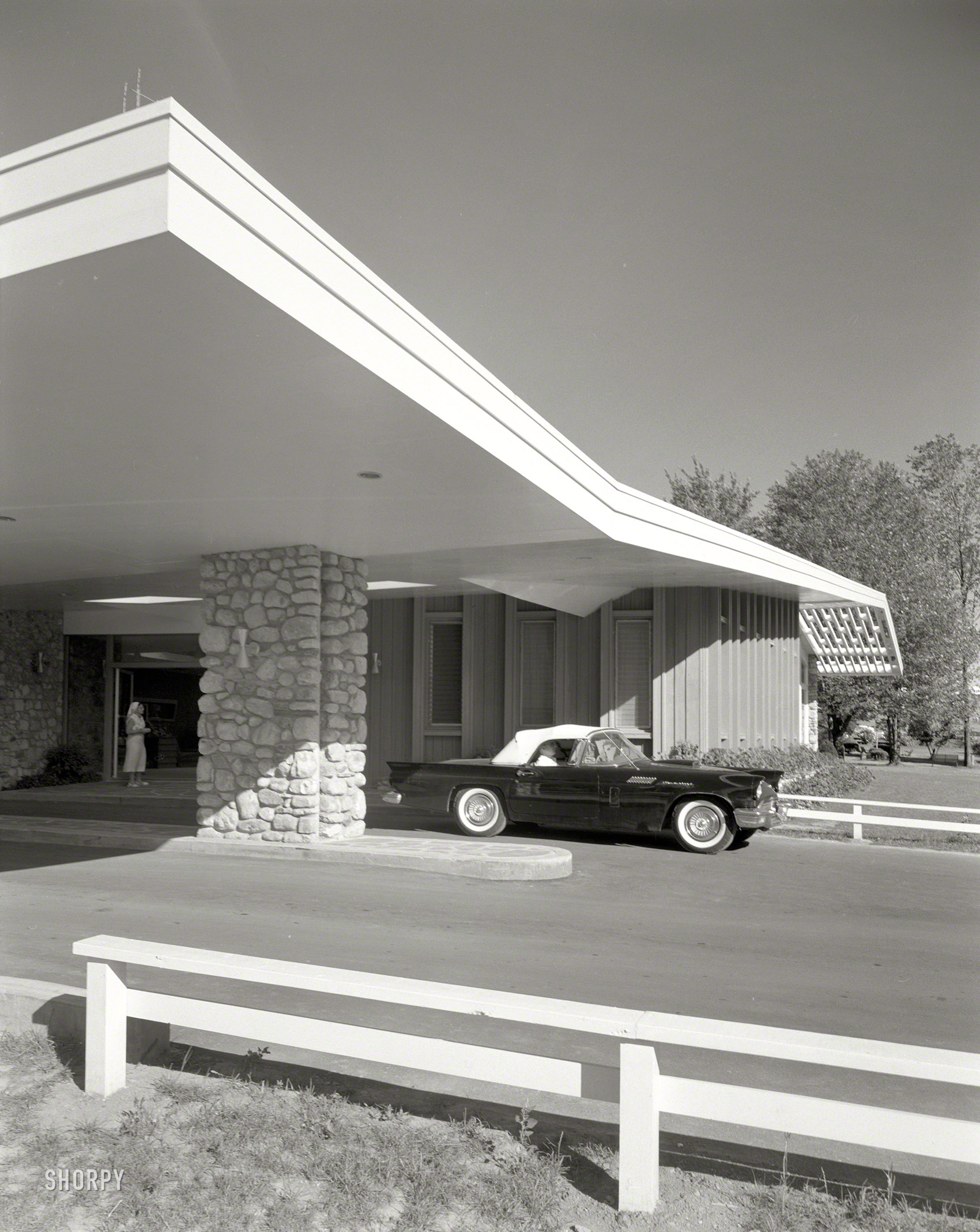 Shorpy Historic Picture Archive Thunderbird Lodge 1957