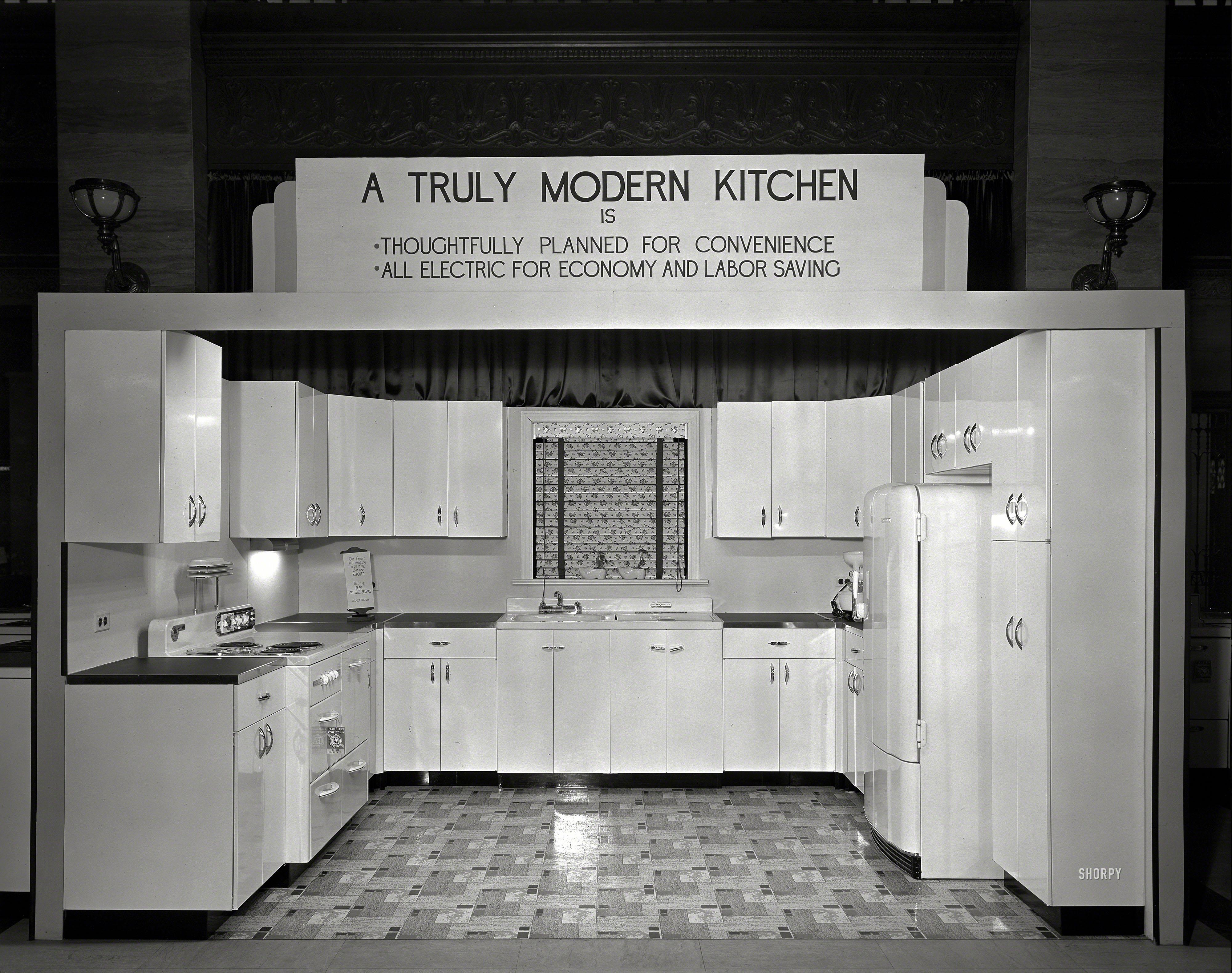 Modern Kitchens Of Syracuse Modern Kitchen 1940 Shorpy 1 Old Photos