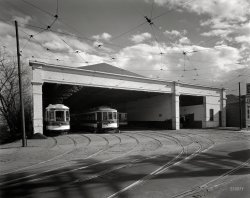 Brightwood Car Barn: 1943