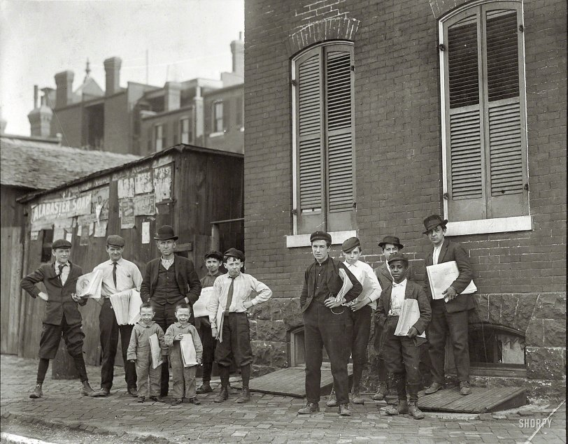 Basement Branch Newsies: 1910