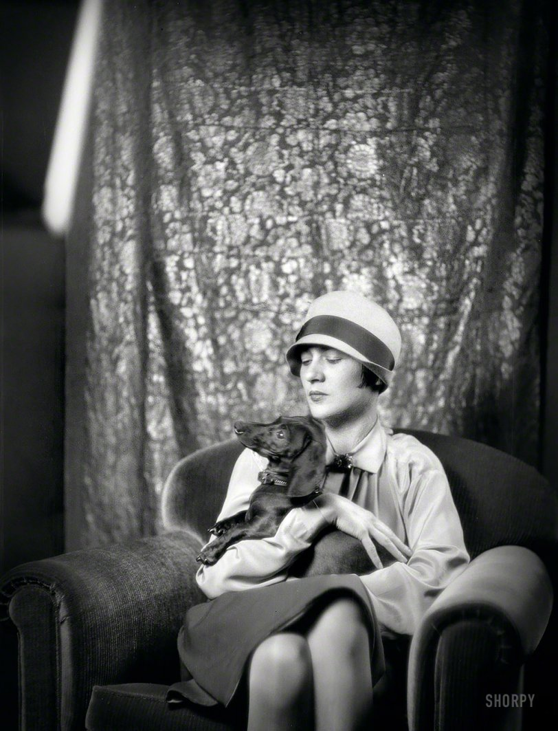 Goldbeck, Mrs., With Dog