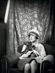 Goldbeck, Mrs., With Dog
