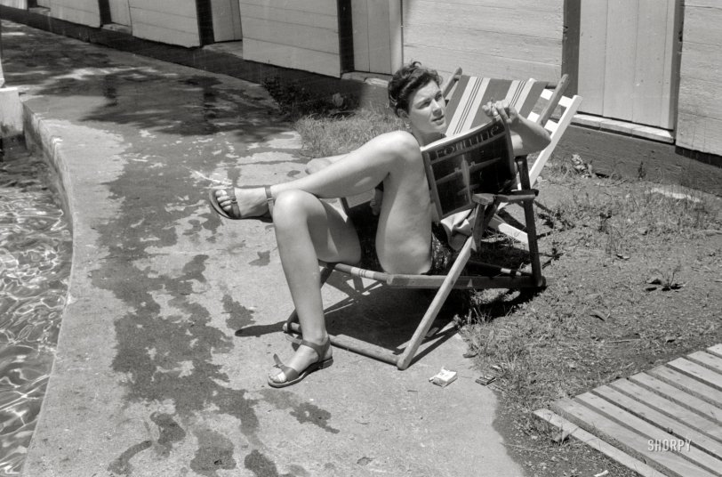 Smoking by the Pool: 1939