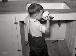 A Drink at the Sink: 1938