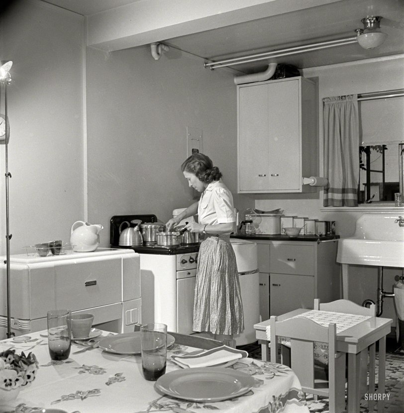 island for kitchens kitchen 1942 shorpy historical photos 1942