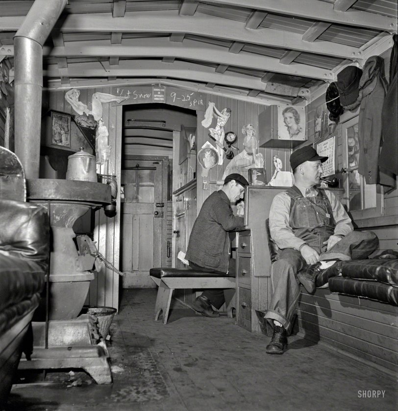 Man-Cave Caboose: 1943 | Shorpy Old Photos | Poster Art