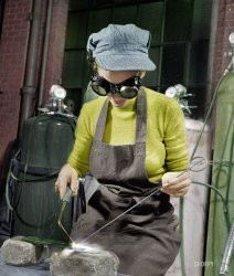 Goggles Girl (Colorized): 1942