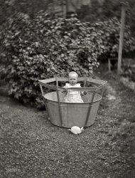 Baby in Bucket: 1890s