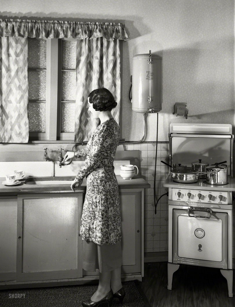 Dream Kitchen 1930s Shorpy Old Photos Vintage Photography