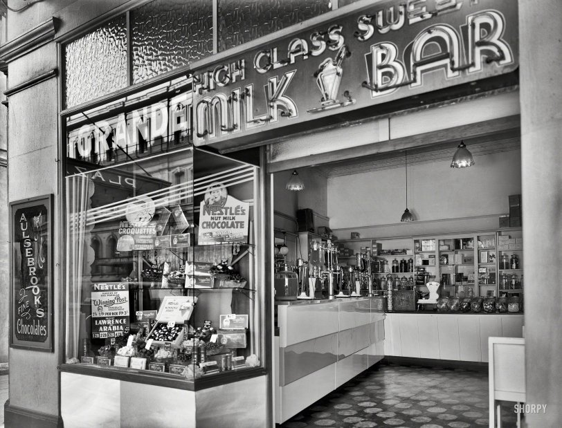 High Class Milk Bar: 1935