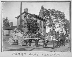 Karr's Pony Tandem: 1901