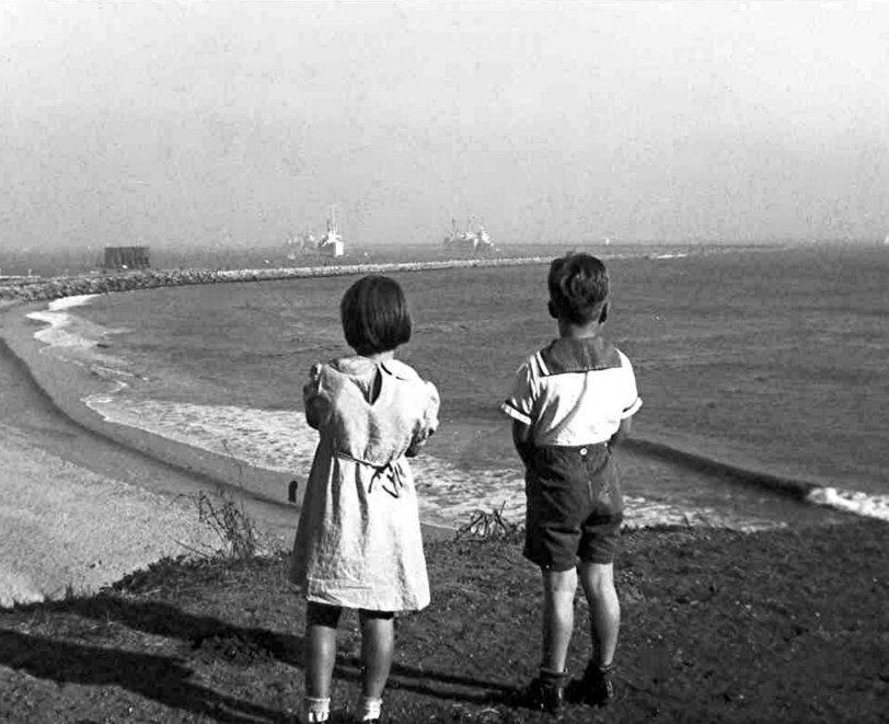 San Pedro shoreline: 1935