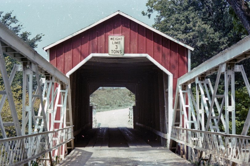 Wolf Covered Bridge (front view), Spoon River, Illinois, 1979
