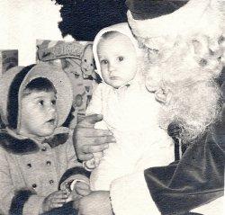 Sisters with Santa: 1963