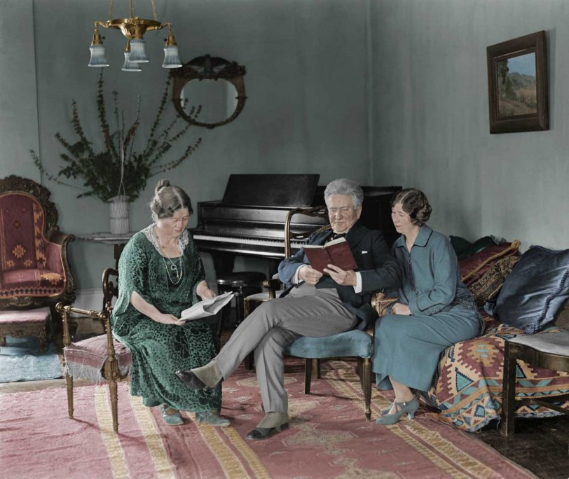 Follette and Family, Colorized