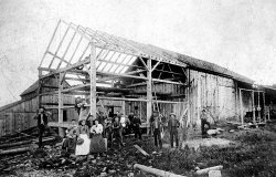 Raising the Sheridan barn