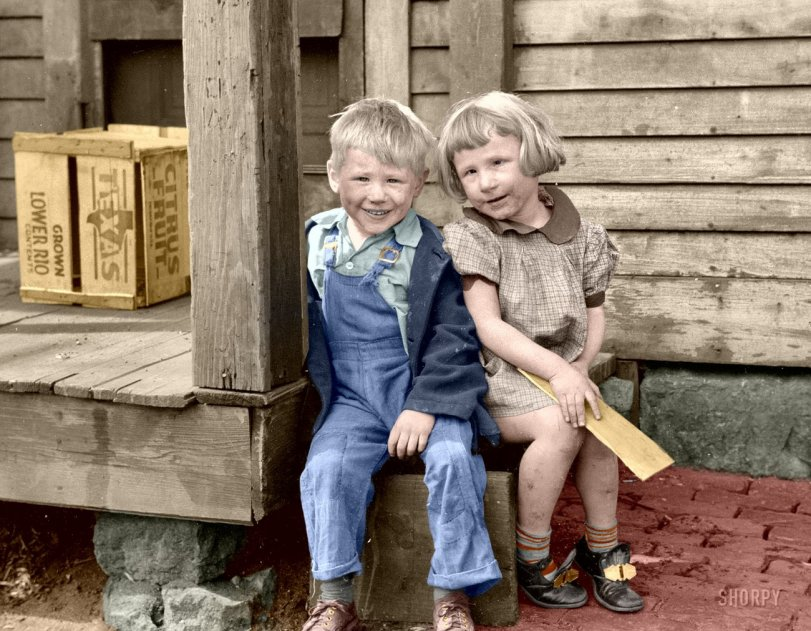 Slum Kids-II (Colorized)