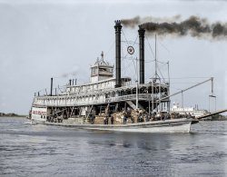 Sternwheeler Staples (Colorized): 1910