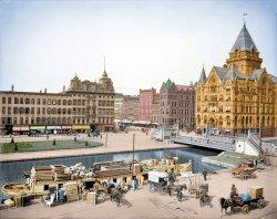 Clinton Square (Colorized): 1905