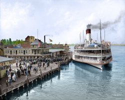 Tashmoo at Port (Colorized): 1906
