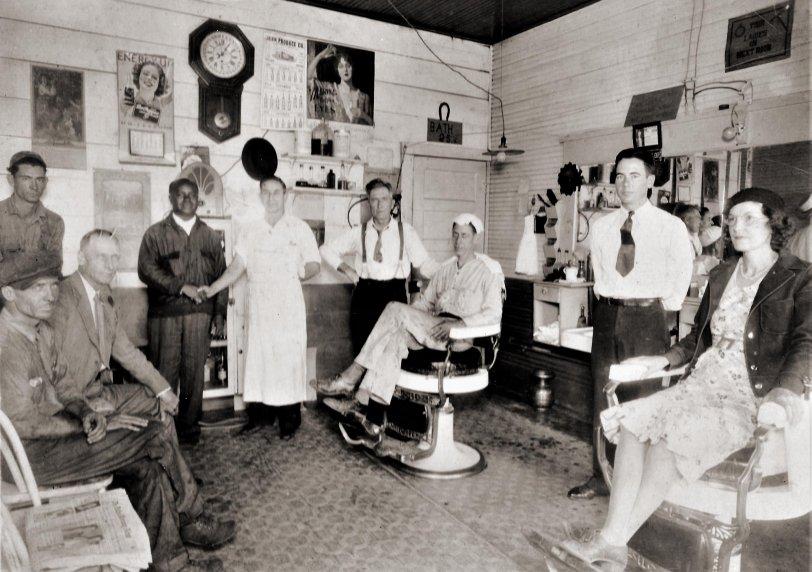 Taylor Barber Shop: 1935