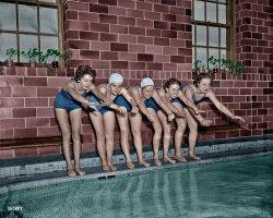 Ten Foot Pool (Colorized): 1963