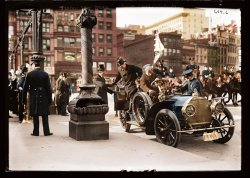 Traffic Squad Parade (Colorized): 1908