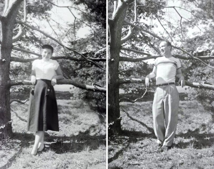 Arlene, Howard and the Tree: c.1951