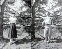 Arlene, Howard and the Tree: c.1951