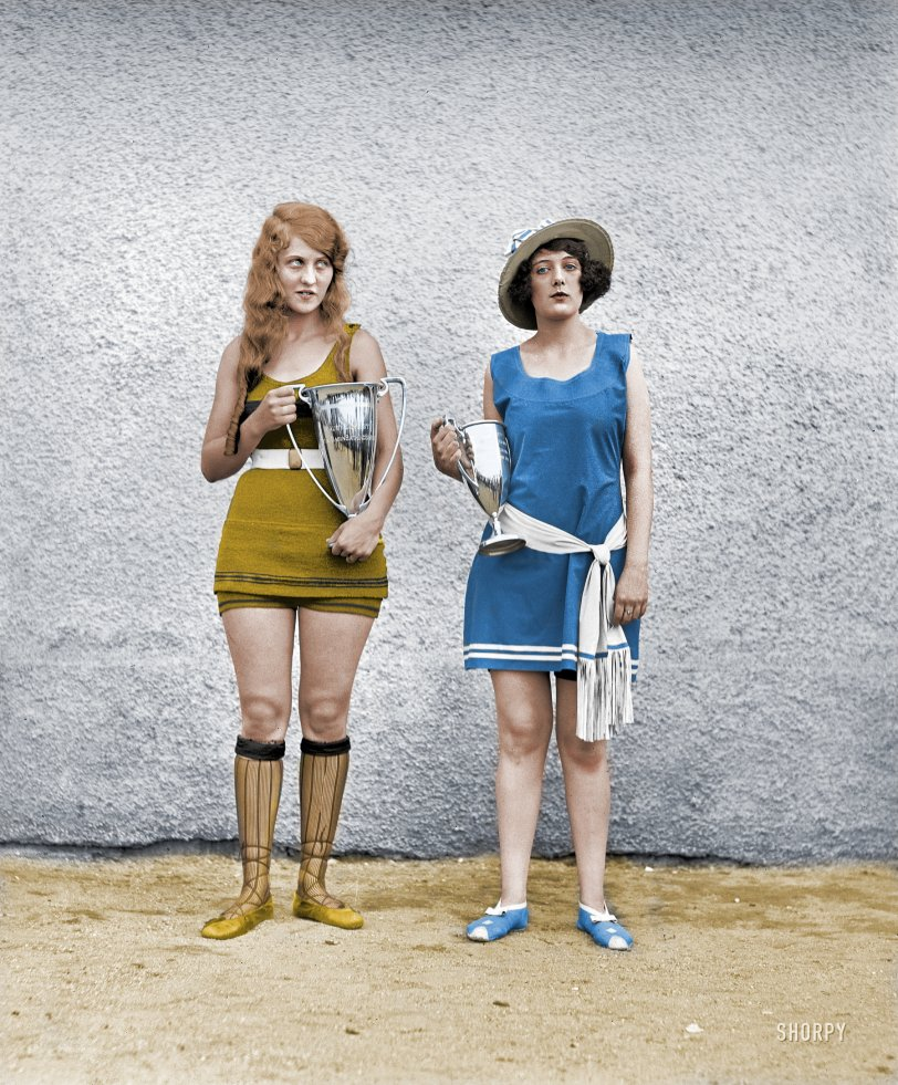 Beauty Contest 1922 (Colorized)