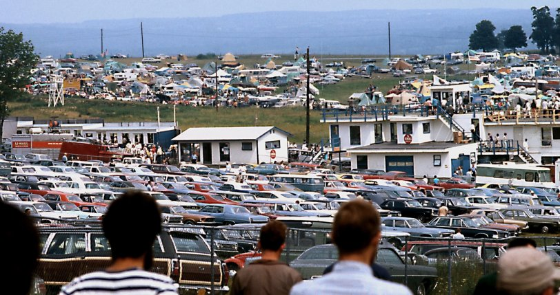 Watkins Glen Parking: 1970
