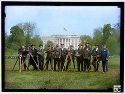 Press Correspondents (Colorized): 1918