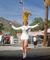 Palm Springs Majorette: 1955