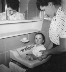 Bath Time For Baby: 1954