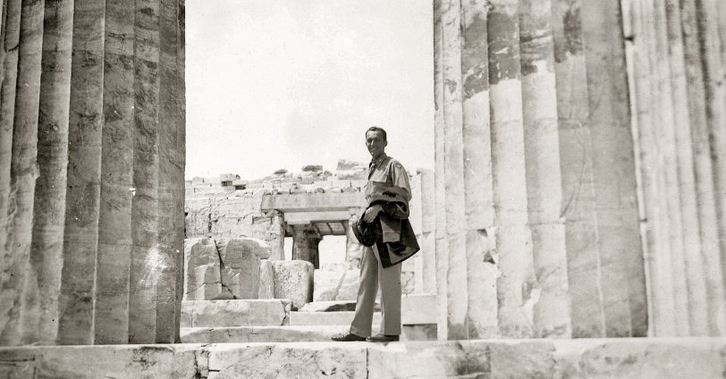 Grandfather at the Acropolis