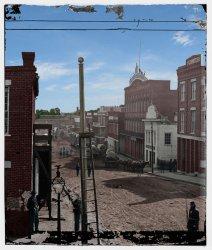 Downtown Atlanta (Colorized): 1864