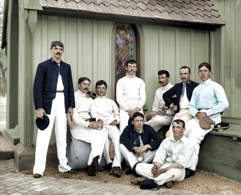 US Naval Academy Team (Colorized): 1890s