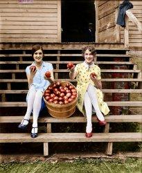 Apple Saucy (Colorized): 1927