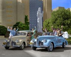 Aquacade Motorcade (Colorized): 1940