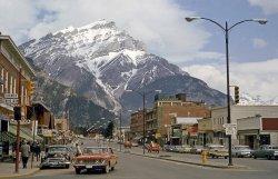 Bustling Banff: 1964