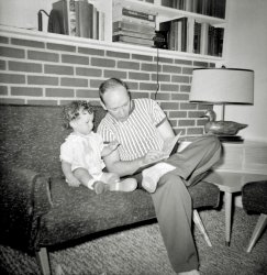 Reading to Baby: 1955