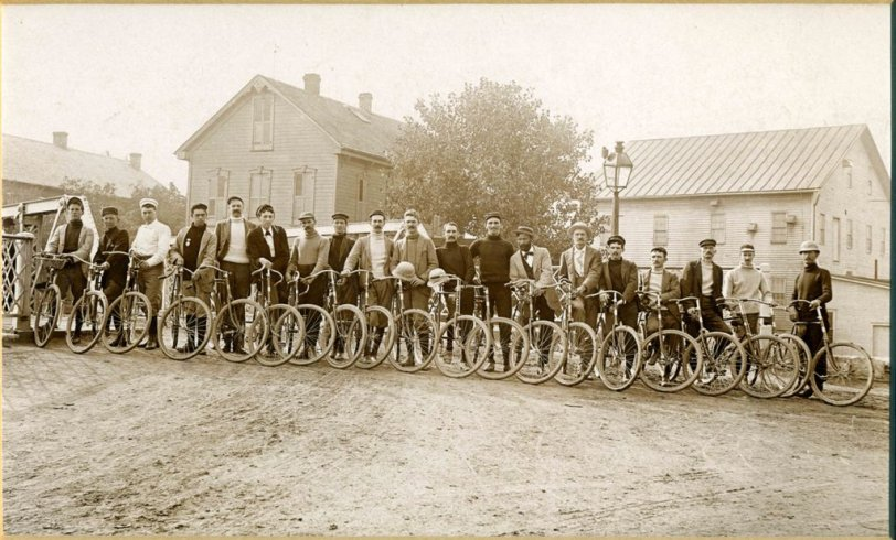 The Sidney Ohio Cycling Club circa 1900