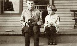 Boy With Brownie Camera