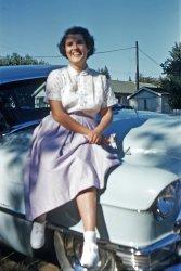 Gal on a Cad: 1956