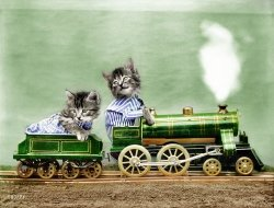 Kittycat Express (Colorized): 1914
