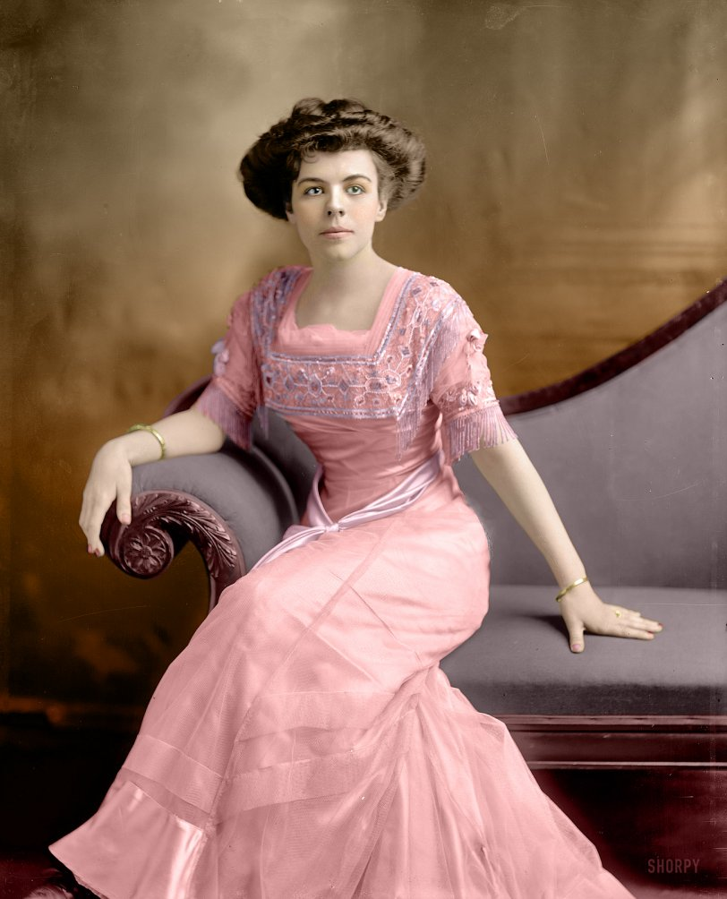 Miss Winship (Colorized): 1909