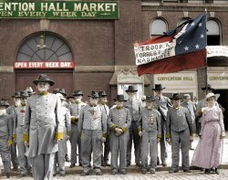 Confederate Veterans (Colorized): 1917