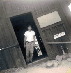 Dad at Uncanny Canyon in Oregon: 1954